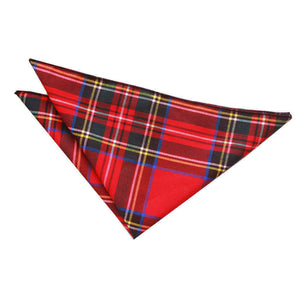 TiesDirect.co.uk - Tartan Handkerchief Colour red-royal-stewart