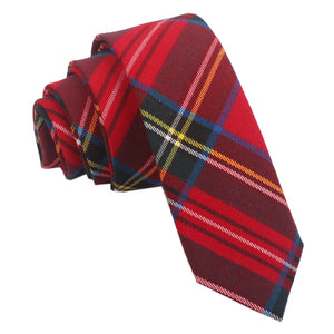 TiesDirect.co.uk - Tartan Skinny Tie Colour red-royal-stewart