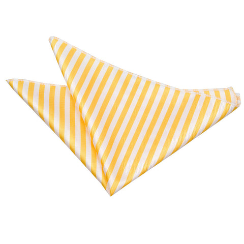 TiesDirect.co.uk - Thin Stripe Handkerchief Colour white-yellow
