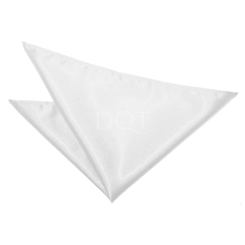 TiesDirect.co.uk - Plain Satin Handkerchief Colour white