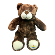 17 inch dark  brown bear