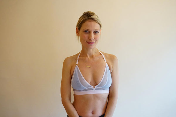 the soft triangle bra with support for new mom bra Victoria