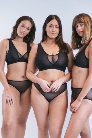 The Wren Bra is the UK's most comfortable bra with wide strap wireless support for large breasts