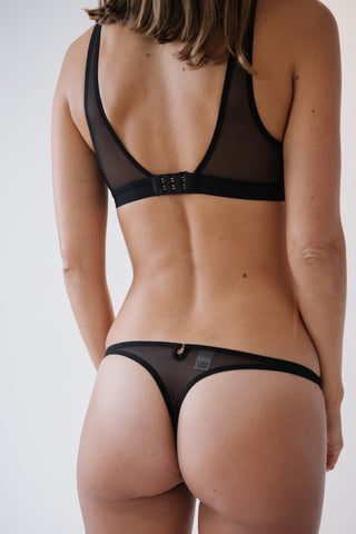 black thong, knicker and brief from lara intimates women's underwear in london