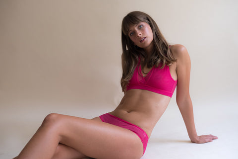 Wren bra, supportive wireless bra, sustainable underwear, ethical lingerie