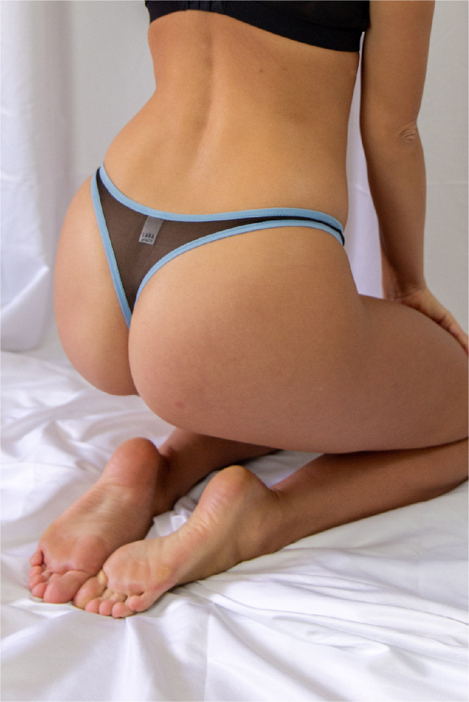 Thong | Black & Blue