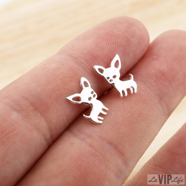 Chihuahua Earrings, Earrings, laviplife, LaVipLife