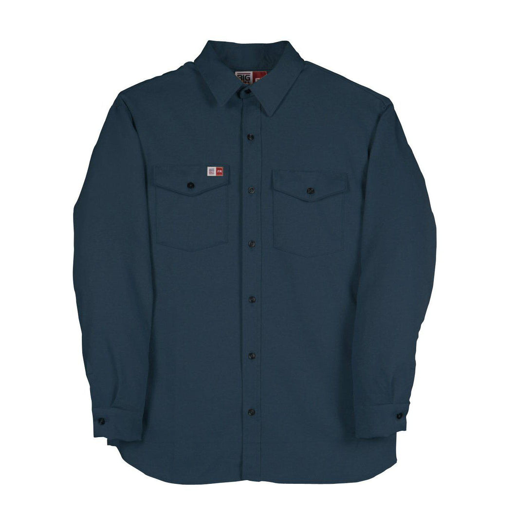 Big Bill FR 1117US7-NAY Navy Flashtrap Vented Shirt - Fire Retardant Shirts.com