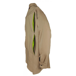 Big Bill FR 1117US7-KAK Khaki Flashtrap Vented Shirt - Fire Retardant Shirts.com