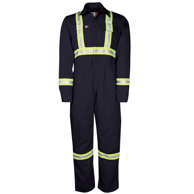 Big Bill FR 1175US7-NAY Navy Women's Unlined Reflective Coverall - Fire Retardant Shirts.com
