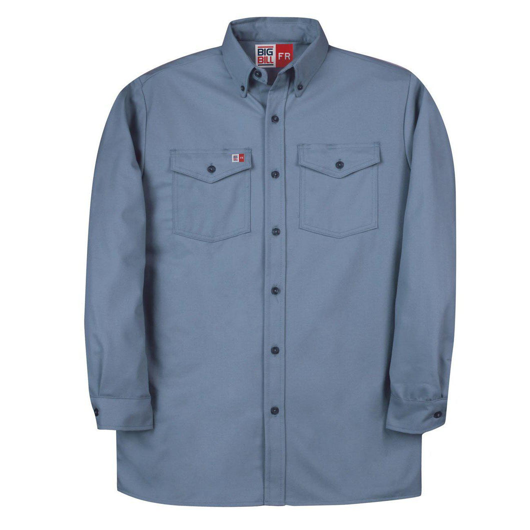 Big Bill FR 147BDTS7-LBL Light Blue Dress Shirt - Fire Retardant Shirts.com