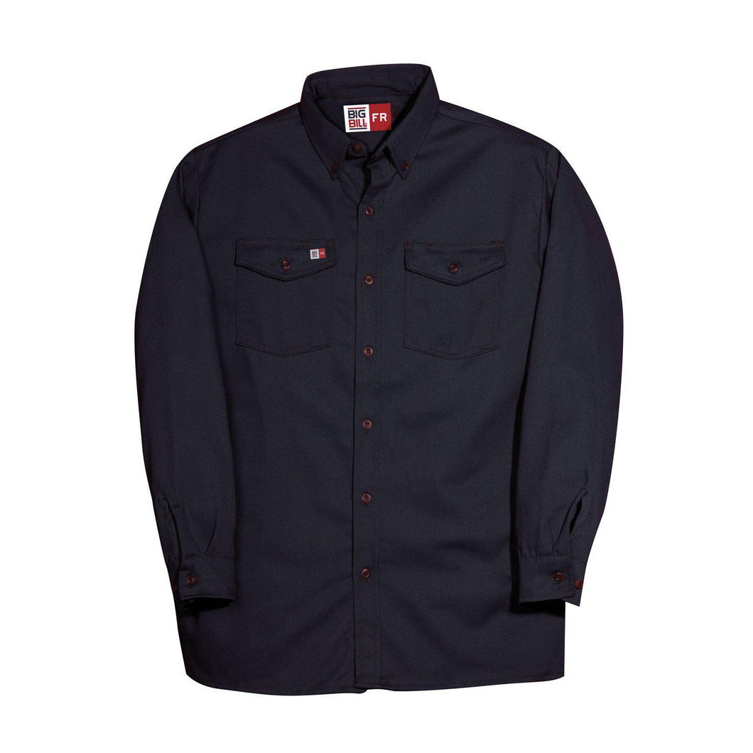 Big Bill FR 147BDTS7-NAY Navy Dress Shirt - Fire Retardant Shirts.com
