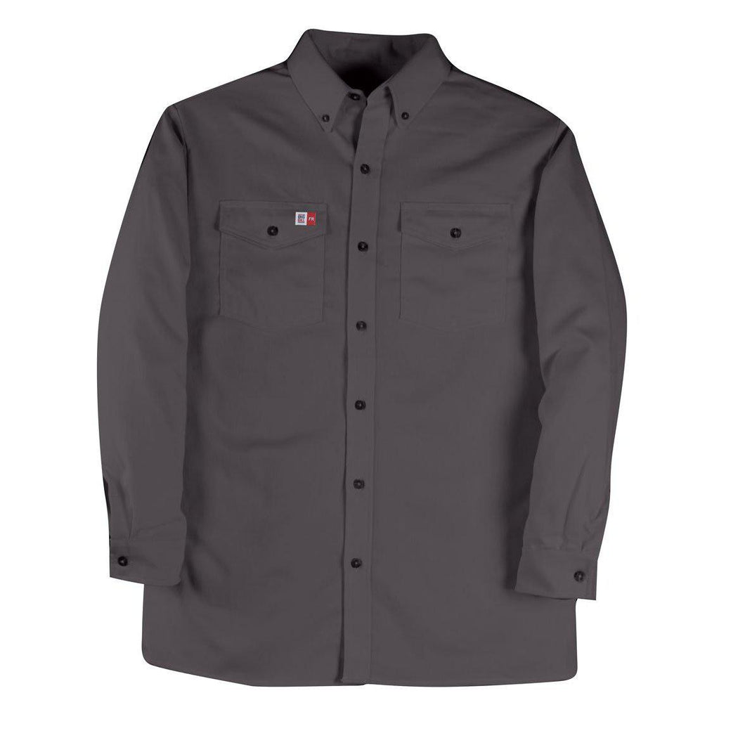 Big Bill FR 147BDUS7-CHA Charcoal Dress Shirt - Fire Retardant Shirts.com