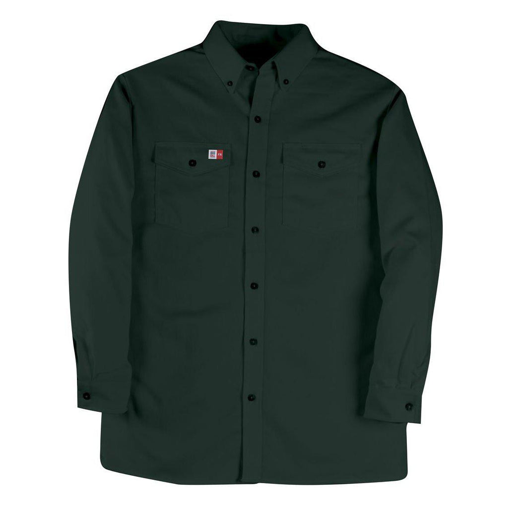 Big Bill FR 147BDUS7-GRN Green Dress Shirt - Fire Retardant Shirts.com