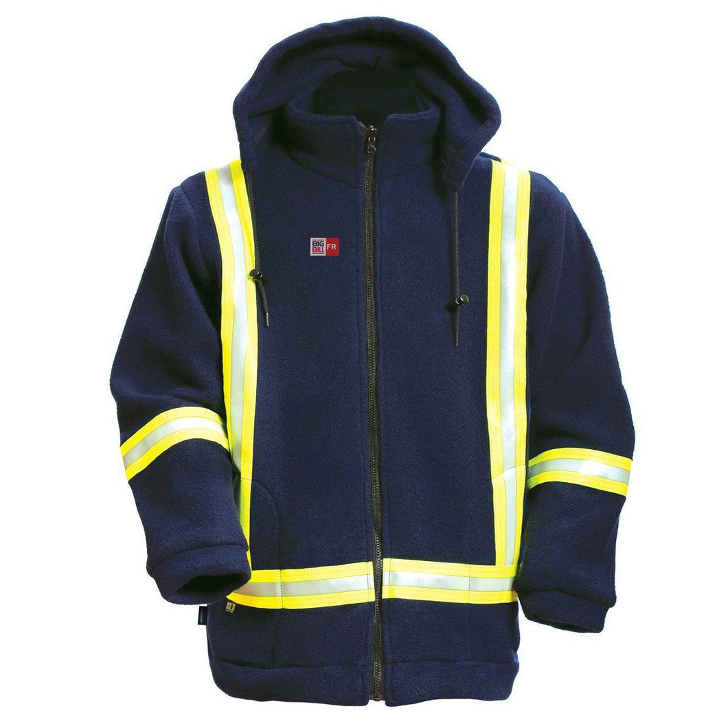 Big Bill FR BK460PTF-NAY Navy Fleece High-Vis Jacket - Fire Retardant Shirts.com