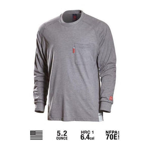 Benchmark FR 3022FRLG Light Gray - 2nd Skin Shirt *Discontinued* - Fire Retardant Shirts.com