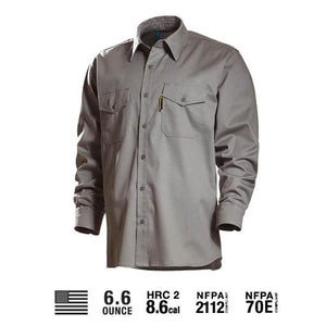 Benchmark FR 1028FRLG Light Gray REALLY NICE FR SHIRT 2.0