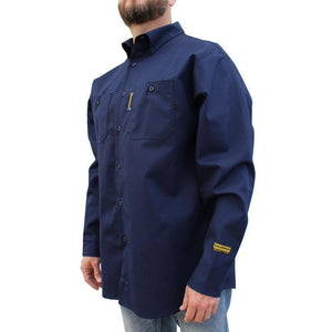 "Benchmark FR 1045FRN Navy ""LOWDOWN"" Flame Resistant Shirt"