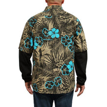 Benchmark FR 1959FRB-S-P Aloha Friday Beige Flame Resistant Hawaiian Shirt - Fire Retardant Shirts.com