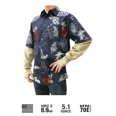 Benchmark FR 1959FRN-S Aloha Friday Flame Resistant Hawaiian Shirt