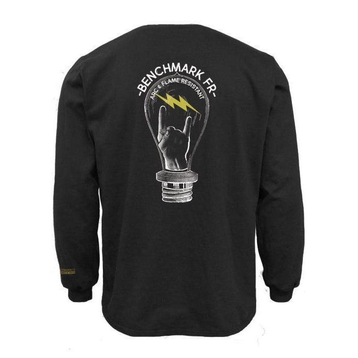 Benchmark FR 3118FRBK-S-LITEROCK Light Rock Bolt T-Shirt
