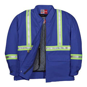 Big Bill FR CL345US9-BLR Royal Blue Team Jacket with Reflective Material Zip In / Zip Out
