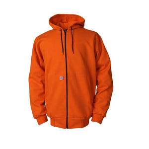 Big Bill FR DW17S11-ORA Orange Hooded Zip Front Hoodie - Fire Retardant Shirts.com