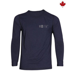 Big Bill FR DW1PD7-NAY Navy Long Sleeve Seamless Underwear - Fire Retardant Shirts.com