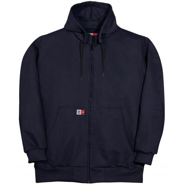 Big Bill FR DW27WP12-NAY Navy Wind Resistant Sweatshirt - Fire Retardant Shirts.com