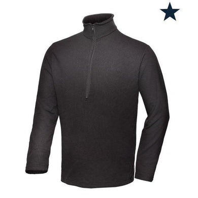 Big Bill FR DW29PS10-BLK Black Sweatshirt 1/4 Zip Up - Fire Retardant Shirts.com