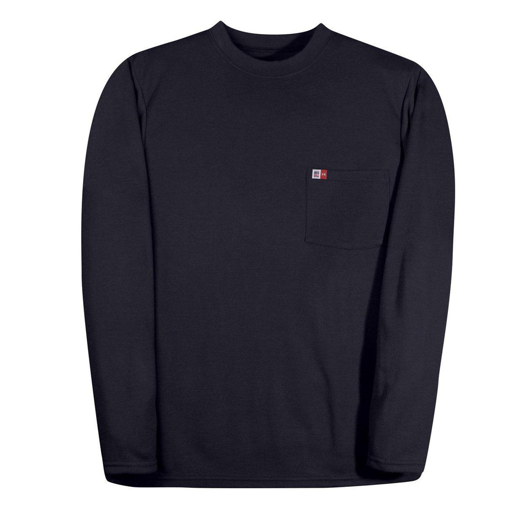 Big Bill Fr Dw5pd5 Nay Navy Long Sleeve Henley Fire
