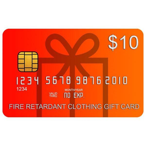 Fire Retardant Clothing Gift Card - Fire Retardant Shirts.com