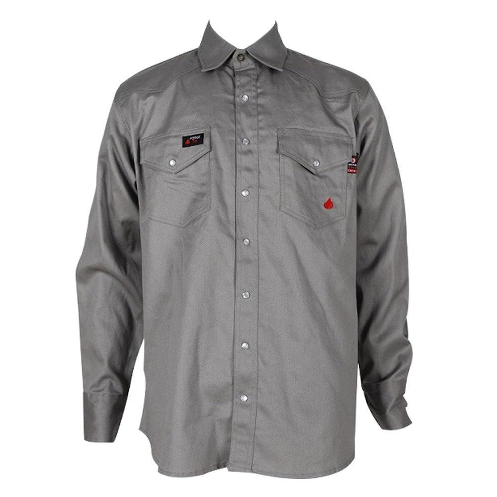 Forge FR MFRSLD-002 Solid Shirt Light Gray