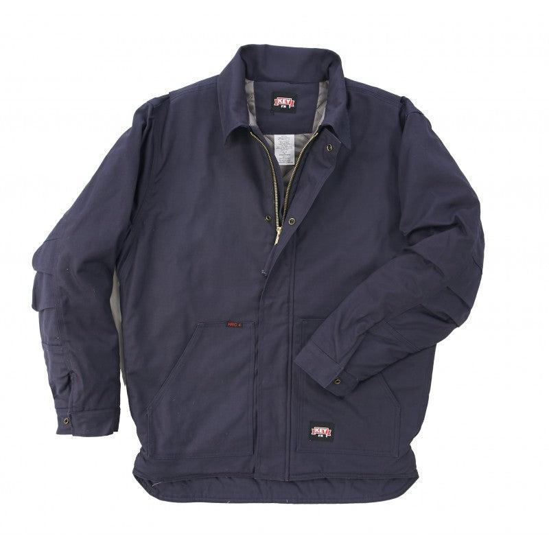 Key Apparel FR 367.40 Navy Insulated Duck Chore Coat - Fire Retardant Shirts.com