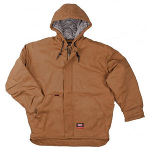 Key Apparel FR 387.21 Caramel Insulated Duck Hooded Jacket - Fire Retardant Shirts.com