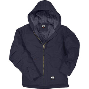 Key Apparel FR 387.40 Navy Insulated Duck Hooded Jacket - Fire Retardant Shirts.com