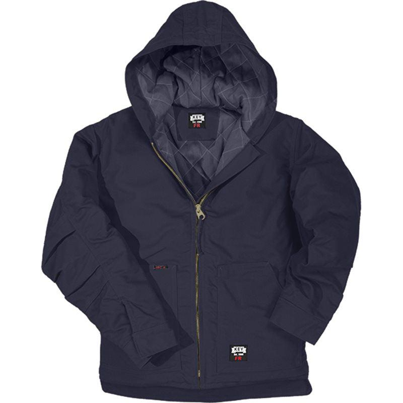 Key Apparel FR 387.40 Navy Insulated Duck Hooded Jacket