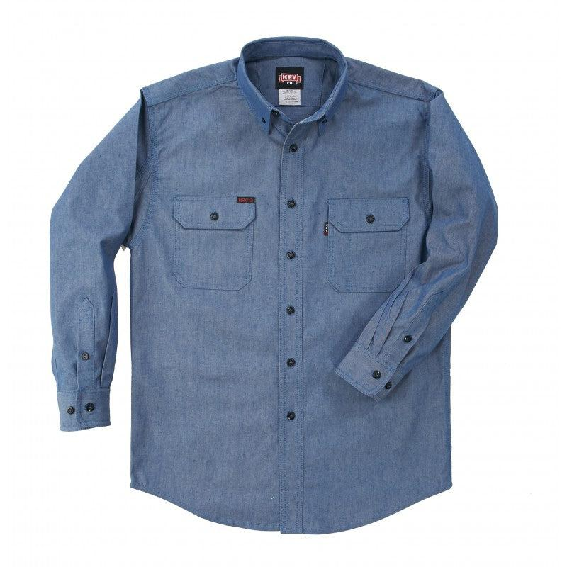 Key Apparel FR 563.45 Chambray FR Long Sleeve Shirt - Fire Retardant Shirts.com