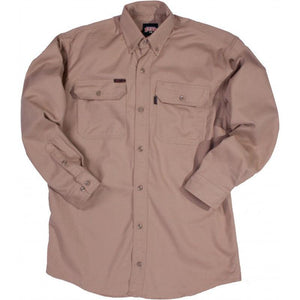 Key Apparel FR 564.24 Khaki FR Long Sleeve Shirt - Fire Retardant Shirts.com