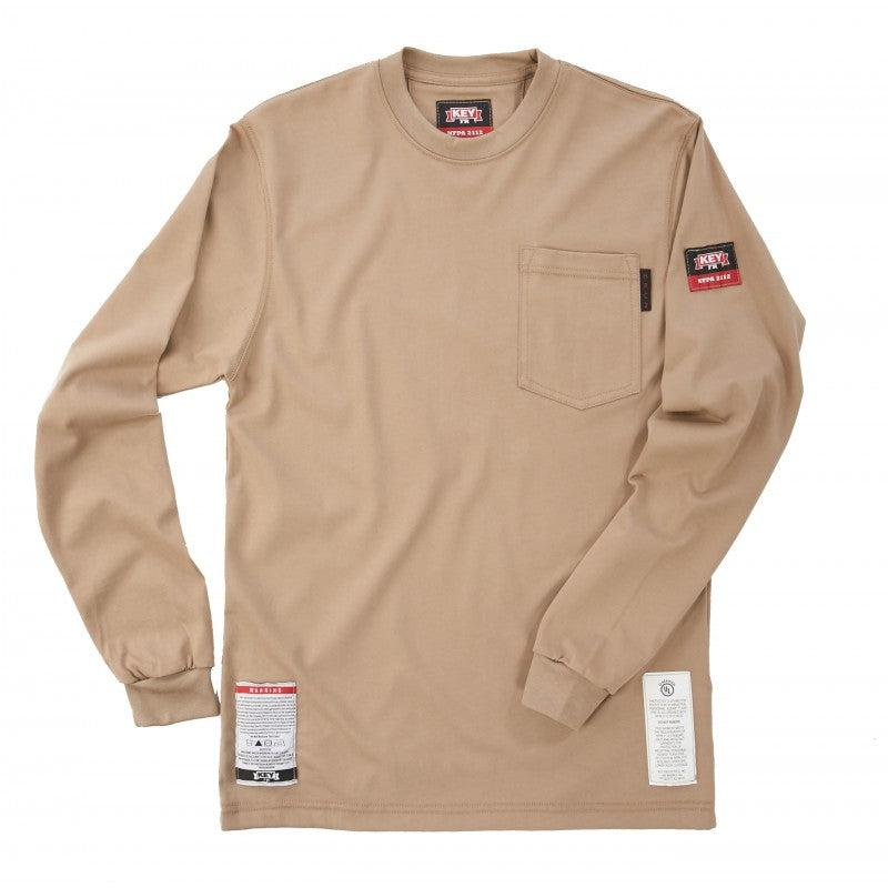 Key Apparel FR 850.24 Khaki FR T-Shirt - Fire Retardant Shirts.com