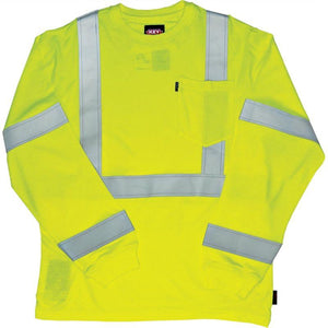 Key Apparel FR 859.39 Hi-Vis Long Sleeve T-Shirt - Fire Retardant Shirts.com