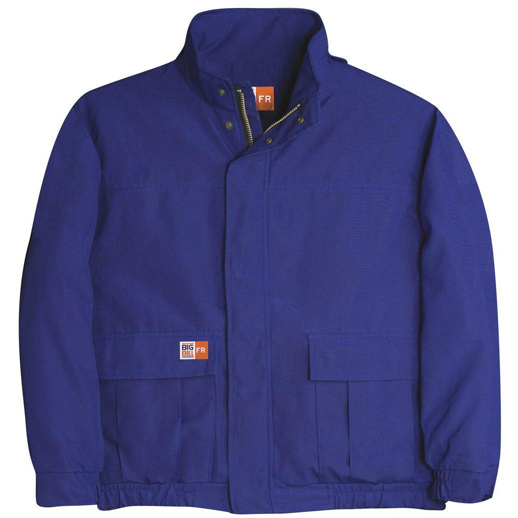 Big Bill FR L490US9-BLR Royal Blue Unlined Zip In/Zip Out Jacket - Fire Retardant Shirts.com