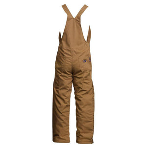 LAPCO FR BIFRBRDK Brown 12oz. FR Insulated Bib Overall - LAPCO FR - Overall - Fire Retardant Shirts.com