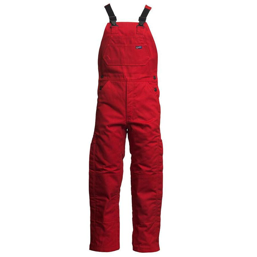LAPCO FR BIFRREDK Red 12oz. FR Insulated Bib Overall - Fire Retardant Shirts.com