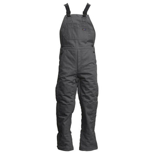 LAPCO FR BIFRWS9GY Gray 9oz. FR Insulated Bib Overall with Windshield Technology
