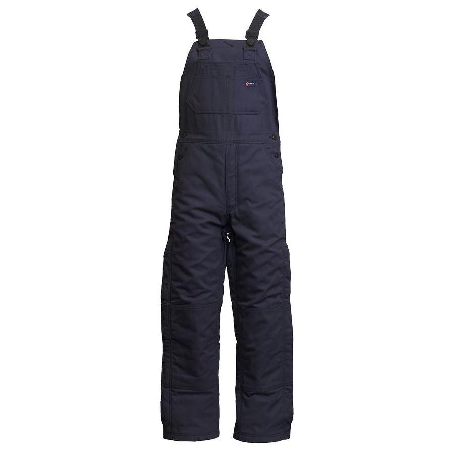 LAPCO FR BIFRWS9NY Navy 9oz. FR Insulated Bib Overall with Windshield Technology