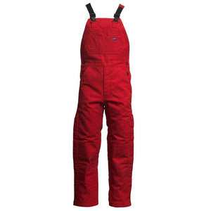 LAPCO FR BIFRWS9RE Red 9oz. FR Insulated Bib Overall with Windshield Technology