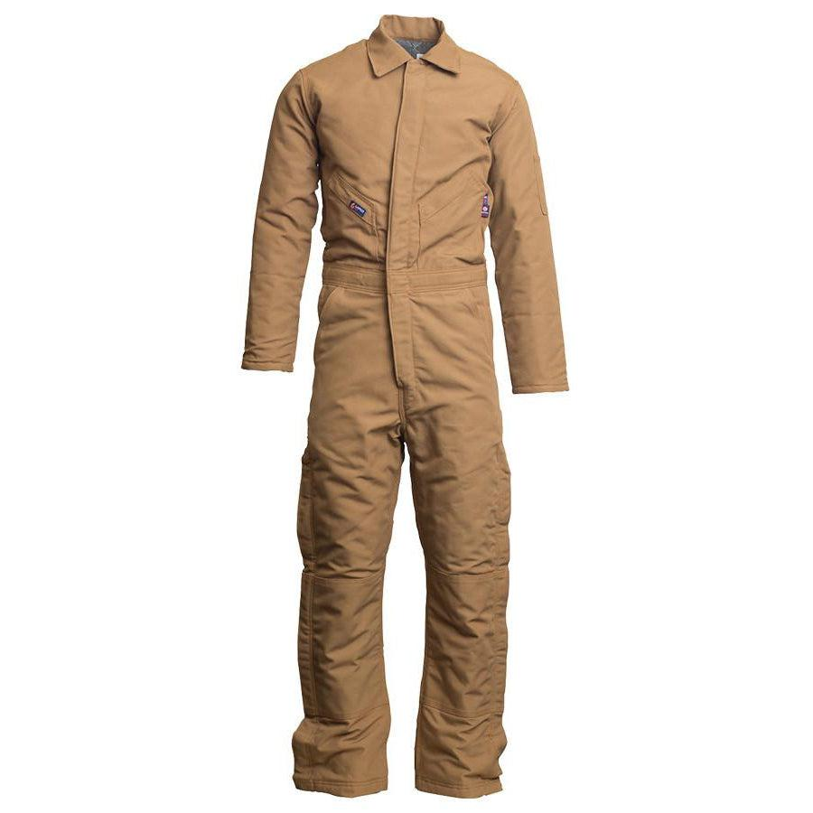 LAPCO FR CIFRBRDK Brown 12oz. FR Insulated Coveralls