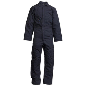 LAPCO FR CIFRWS9NY Navy FR Insulated Coveralls with Windshield Technology