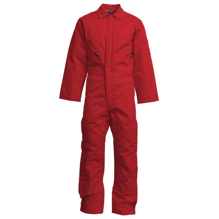 LAPCO FR CIFRWS9RE Red FR Insulated Coveralls with Windshield Technology